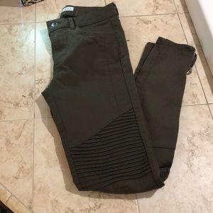 Zara Dark Green Jeans NWT